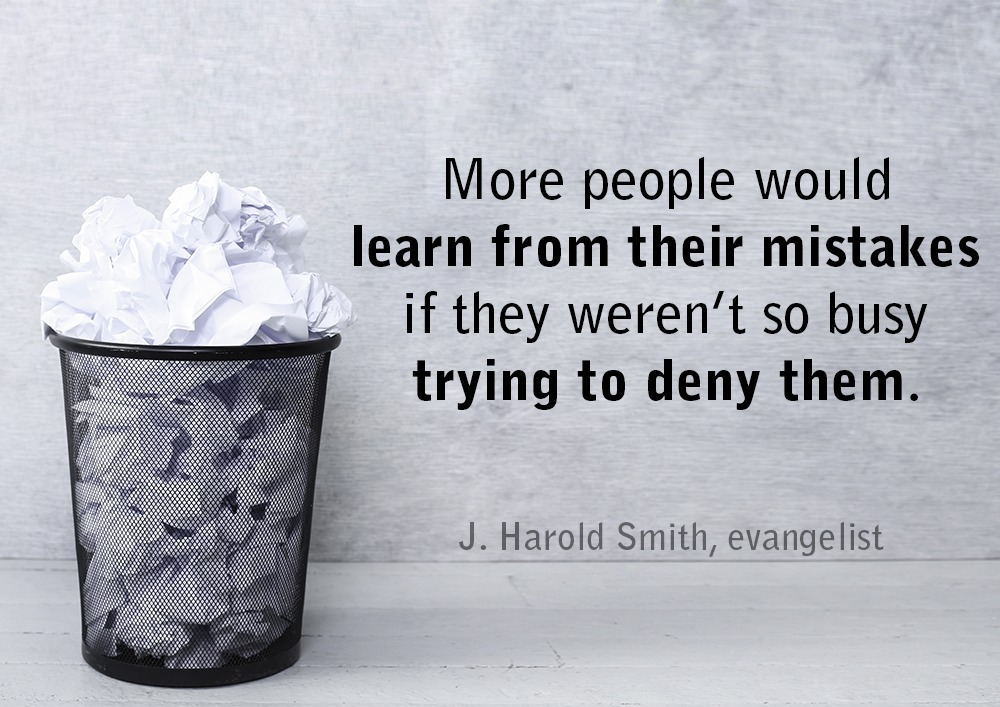 leadership quote - mistakes