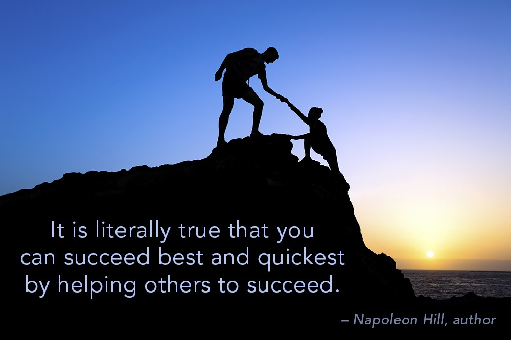 succeed by helping others - quote