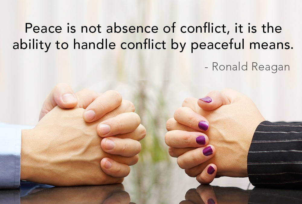 Quote on Dealing with Conflict Peacefully