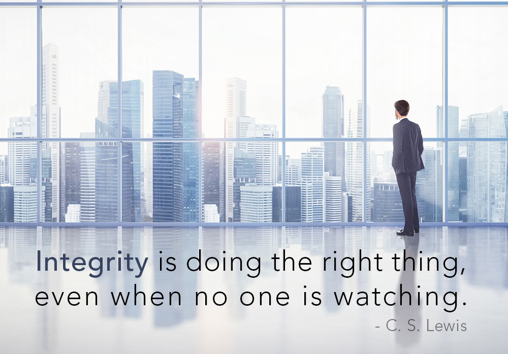 Quote on Integrity and Leadership
